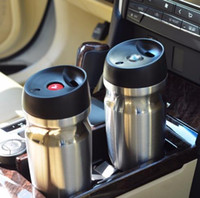 Wholesale 12 Lid Stainless - 12 OZ Vacuum Insulated Travel Mug Double wall Stainless Steel Tumbler Sweat Free Coffee Cup Thermos Canteen Water Bottle