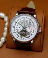 Wholesale Double Faces Watch - High Quality Men's Automatic mechanical watches Sport Style Sky Moon Leather Band PP Men Dress tourbillon Watch Double Face Man Wristwatch