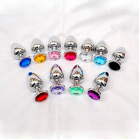 Wholesale Jewelry Butt Ass - 80 * 34 Medium Metal Anal Sex Toys For Woman & Man, Stainless Steel Enticing Jewelry Butt Plug. Large Ass Beads Products AS024M BY DHL