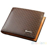 Wholesale Wholesale Collector Cards - Wholesale- New Stylish Classical Men's PU Leather The Look Wallet Pockets Card Collector Bifold Purse Bag 02ND 4OGD