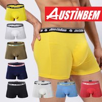 Modal Boxers Xl for sale - Free shipping!new style brand AUSTINBEM solid boxers fashion underwear men soft modal pants men's gay underwear men boxer shorts