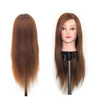 """Wholesale Hair Mannequin Head Clamp - Synthetic Hair 22"""" Salon Hairdressing Mannequin Practice Training Head osmetology Mannequin Head With hair & Clamp Holder"""
