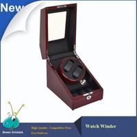 Wholesale Woods Motors - Wholesale-Veined wood Color Motor Watch Winder Self-winding Wath Winder,Daul Gallery Luxury Watch Display Watch Winder