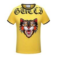 Wholesale Star T - Summer New Men'S Fashion Brands Short Sleeve T Shirt Leisure Star printing T-shirts Men'S Sports Camisetas T-Shirt