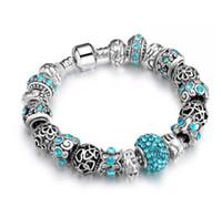 Wholesale murano glass pendants snake - 20cm 925 Sterling Silver Murano Lampwork Glass Beads & Clay Crystal European Charm Beads Love Heart Pendant Fits Pandora Diy Charm bracelets