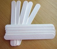 Wholesale white emery board wood nail file wooden file nail care tool