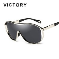 Wholesale Today Offers - Wholesale-Oversized Shield Steampunk Sunlgasses Women Men Unisex Fashion Cool Brand Female Mirror UV400 Rap Sun Glasses Today Offers