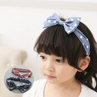 Wholesale Latest Baby Hair Band - The latest 2017 children with baby baby hair band wave bow with children elastic hair band
