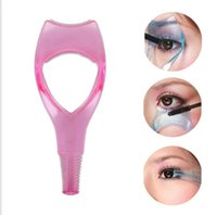 Wholesale assorted cosmetics resale online - 3 in Eyelash Curler Mascara Applicator Guide Guard Eyelash Comb Cosmetic Crystal Brush Curler Assorted Colors