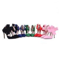 Wholesale big bow shoe flat online - Plus Size Shoe Women Big Bow Tie Pumps Butterfly Pointed Stiletto Women Shoe High Heels Suede Wedding Shoe