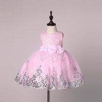 bebek yaz tutu elbiseleri toptan satış-Bebek Kız Elbise Kızlar için 2017 Yeni Prenses Bebek Parti Elbiseler Yaz Çocuklar tutu Elbise Bebek Giyim Toddler Kız Giysileri