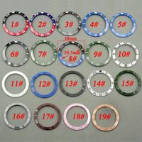 Wholesale Watch Case Kits - 38mm Ceramic Titanium Bezel Insert Watch Kit Fit Automatic 40mm Mens Watch Case New High Quality Bezels Insert Watch Accessories P300