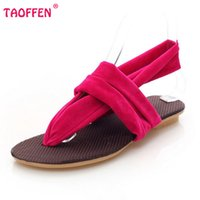 Wholesale Tie Clip Backing - Wholesale-women flats sandals clip toe back strap quality sandals sexy fashion lady gladiator footwear woman flat shoes size 36-41 WA0061