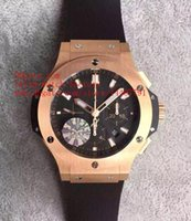 Wholesale Luxury V6 - 6 Style Luxury Best Edition HBB V6 Factory Classic 44mm 18k Rose Gold Swiss CAL.HUB4100 Chronograph Movement Automatic Mens Watch Watches