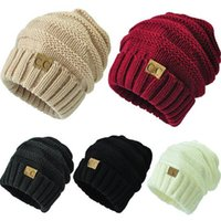Wholesale Woolen Hats For Women - DHL Free Winter Knit Woolen Cap CC Trendy Hat Beanies for Men Label Fedora Cap Fashion Beanies Thick Designer Warm Hat Outdoors