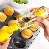 Wholesale Silicone Accessories For Kitchen - Silicone Honey Oil Bottle with Brush for Barbecue Cooking Baking Pancake Cake Brush Set Kitchen Accessories Cook Tools