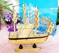 Wholesale Pirate Sailing Ships - Pirate ship wooden sailing boat furnishing articles music household decoration smooth boyfriend gift boxToy Musical Instrument