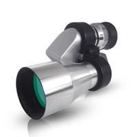 Wholesale Mini Telescope Microscope - Mini Portable Monocular HD telescope All-optical green film 8x20 with 30 times microscope Aluminum alloy+Plastic 7.8x3.5x3.5cm