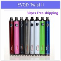 Wholesale Evod H2 - Evod Twist II 2 VV battery - 1300mAh 1600mAh ecigs battery VS tesla sidewinder 2 battery suit with CE4 CE5 H2 protank atomizer