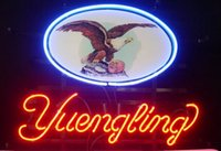 """Wholesale White Lager - New Yuengling Lager Eagle Light Neon Beer Sign Bar Sign Real Glass Neon Light Beer Sign 17""""X14"""""""