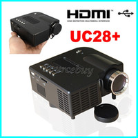 Wholesale digital projector sd card resale online - Latest UC28 portable pico led mini HDMI video game projector digital pocket home cinema projetor with SD Card Slot proyector for quot cinema