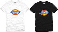 Wholesale Men Dickies - Free shipping new arrival Dickies t shirt Men Short Sleeves T-Shirt with Dickies Logo print Unisex t-shirts 100% cotton 6 colors size: S-XXX