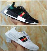 Wholesale R1 11 - (With box) Boost NMD R1 x bees women men shoes Casual shoes NMD R1 PK bee boost Mesh Black white running shoes 5-11