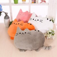 rellenos de almohadas al por mayor-Chubby Cat Pillow Cartoon Animal Cojín PP Relleno de algodón Práctico Lovely Sofa Back Pillows Home Decor 10 5yt F R
