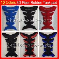 Wholesale yamaha tank decals - 12 Colors 3D Rubber Gas Tank Pad Protector Tank stickers decals pads For For HONDA KAWASAKI SUZUKI YAMAHA DUCATI BMW TRIUMPH Aprilia 4HM13
