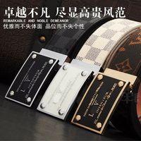Wholesale Leather Belts Men Cheap - Fashion 2017 cow genuine leather Mens Womens pattern Belts for Shape Alloy Buckle Fashion Waistband Waist Belt Cinturon Hombre Cheap Sale