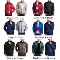 Wholesale Coat Clearance - Stock Clearance! Men's Reversible Packeable Down jacket Ultar Light Weight 2017 Hiking Style Puffer Down Coat Both Side of Travel Clothes!