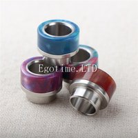 Wholesale Cheap Ecig - Best ecig resin and stainless steel wide bore drip tips for Kennedy 24 and Goon 528 RDA TFV8 528 Tank RDA cheap Free Shipping