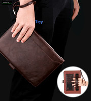 "Wholesale Mini Ipad Hand Holders - Cover Case For iPad Mini 123   Air 1 9.7""(New 2017 Modle),Retro Briefcase Hand Belt Holder Leather Auto Wake Up  Sleep Smart Stand Flip Bags"