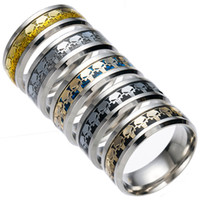 ingrosso donne punitore-Acciaio inossidabile Argento Oro The Punisher Ring Finger ring Tail Rings Bands per donna Uomo gioielli regalo Drop Shipping