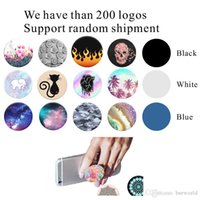 Wholesale Logos Tablet Pc - Pop phone socket mobile holder For iPhone 7 Cell Phone Tablet PC with retail package Real 3M glue support reusable Custom Logo