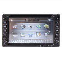 """Wholesale Two Camera Car Dvd - universal 2 two double Din 6.2"""" inch Car DVD player,audio Radio stereo video,USB SD,Bluetooth TV,AM FM,AUX,digital touch screen camera input"""
