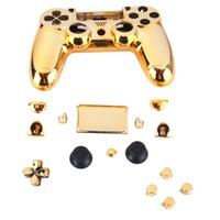 Wholesale Hydro Dip - Gold Chrome Replacement Hydro Dipped Shell Mod Kit for PS4 Controller