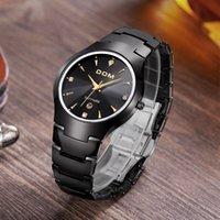 Wholesale Dom Sapphire Watch - DOM Brand luxury full Tungsten steel casual quartz watch dress men & women dive watches relogio masculino designer wristwatches