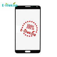 Wholesale Note Lcd Glass - White Pink Pebble Blue Black Gray Galaxy Note 3 Front Outer Screen Glass Lens Touch Screen Cover Replacement