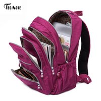 Wholesale backpack clear - TEGAOTE Classic Backpack for Women School Bag for Teenage Girls Nylon Backpacks Female Casual Travel Laptop Bag Mochila Feminina