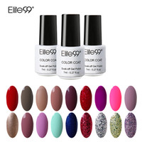 Vente en gros- Elite99 7ml Gel à ongles Polonais Couleur des bonbons Longévité Soak Off Vernis Base Top Coat DIY Vernis à ongles UV LED Lamp Curing