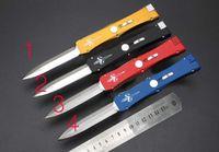 Wholesale Custom Daggers - hot 4 colors Micro Marfione Custom classics Nemesis single action D E blade Satin Dagger knife 1pc