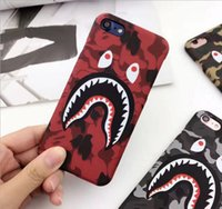 étuis de mode iphone 5s achat en gros de-NOUVEAU Hot Cool Cool Fashion Shark Case pour iPhone 7 6 6s Plus Shark Army Phone Case Cover pour iPhone 6S 5 5S SE Matte