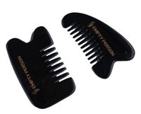 Wholesale Fine Toothed Comb - Pack of 2 wide toothed ox horn comb 1pc + mini pocket comb head massage comb 1pc