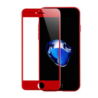 Wholesale 3D Curved Edge Full Cover Premium Tempered Glass For Iphone s Plus Soft Edge Red Screen Protector Film