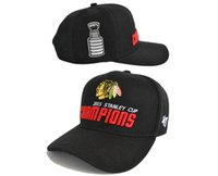 Wholesale Champions Brand - New The Champions Caps 2017 Blackhawks Champions Caps 47 Brand Chicago Cheap Black Hats Mix Match Order All Caps in stock Top Quality Hat