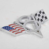 Wholesale Vinyl Stickers Ford - 1pc High Quality Metal V8 American Flag Car Emblem Universal Auto Car 3D Metal Badge Sticker Decal for Ford Chevrolet