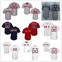 Wholesale Navy Kids Shorts - Customized Boston Red Sox Mens Womens Youth Kids Gray Road White Navy Blue Personalized Sewn On Your Own Name Number Jerseys S,4XL