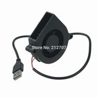 Wholesale Usb Dc Fan - Wholesale- 5PCS Gdstime Mini DC 5V 60x15mm 60mm Black Brushless Cooling Blower Fan USB 6015S