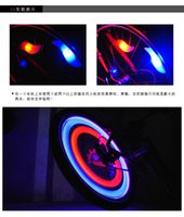 Wholesale Electric Bicycle Wholesale - New Bike Bicycle LED Wheels Spokes Lamp wheel Lights Motorcycle Electric car Silicone 4 colors flash alarm light cycle accessories